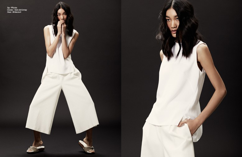Top / Whistles Culottes / Stella McCartney Shoes / Birkenstock