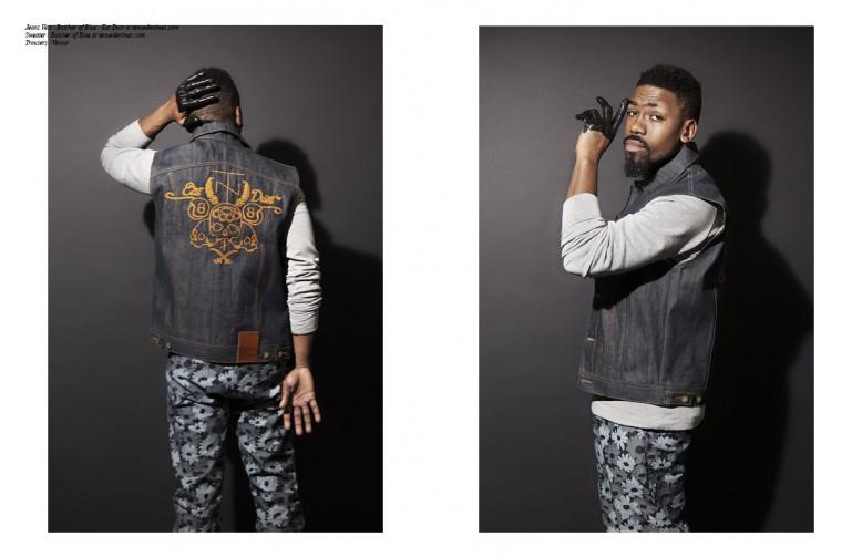 Jeans Vest / Butcher of Blue - Eat Dust at tenuedenimes.com Sweater / Butcher of Blue at tenuedenimes.com Trousers / Velour