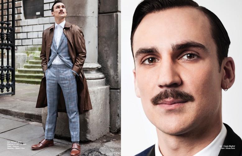 Henry Lloyd-Hughes wears  (Suit )