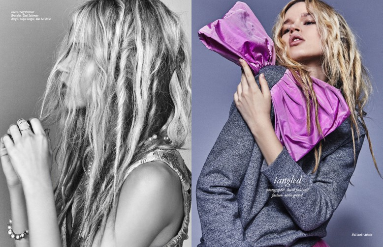 Dress / Self Portrait Bracelet / Yael Saloman Rings / Maya Magal, Mei Lei Rose Opposite Full look / Ashish