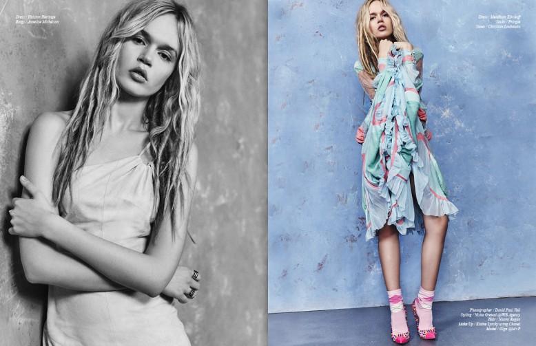 Dress / Halston Heritage Rings / Annelise Michelson Opposite Dress / Meadham Kirchoff Socks / Pringle Shoes / Christian Louboutin