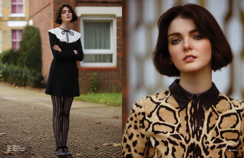 Dress / Valentino Tights / Emilio Cavallini Shoes / Emporio Armani Opposite Top / Gucci