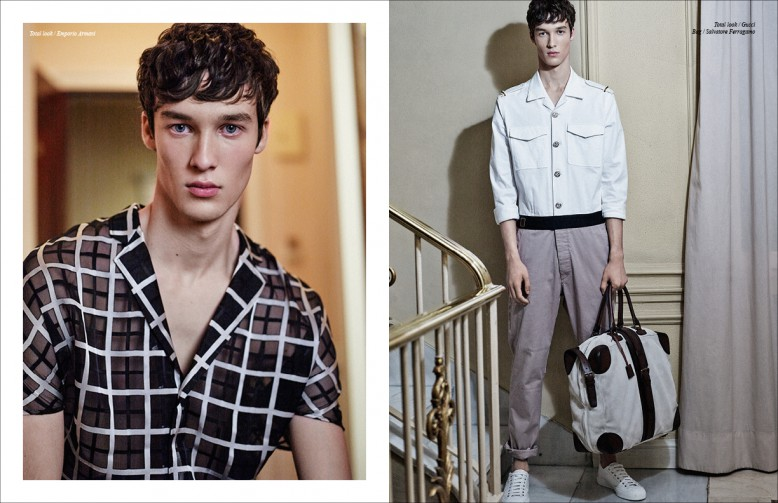 Left Total look / Emporio Armani Righ Total look / Gucci Bag / Salvatore Ferragamo