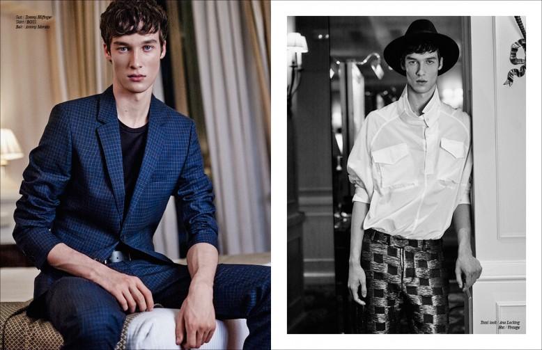 Left Suit / Tommy Hilfinger Shirt / BoSS Belt / Antony Morato Righ Total look / Ana Locking Hat / Vintage