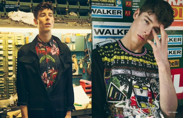 Left Overall / Maison Margiela Shirt / Leitmotiv Right t-shirt / Leitmotiv