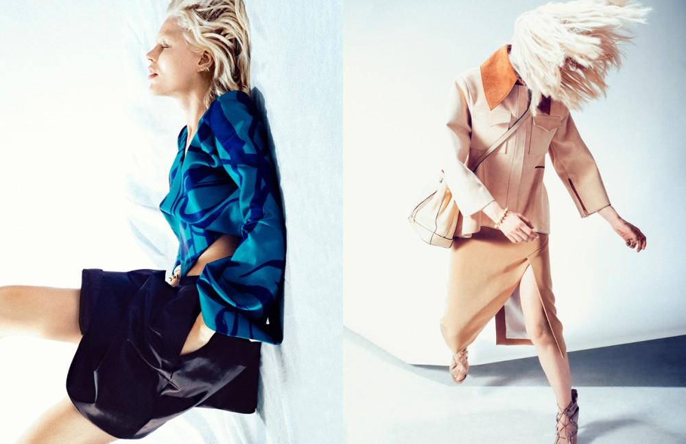 Top / Ellery Skirt / Acne Studios Opposite Jacket / Ellery Skirt / Christopher Esber Bag / Calvin Klein Shoes / Nicholas Kirkwood heels Jewellery / Amber Sceats