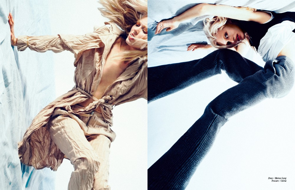 Total look / Acne Studios Opposite Dress / Helmut Lang Trousers / Céline