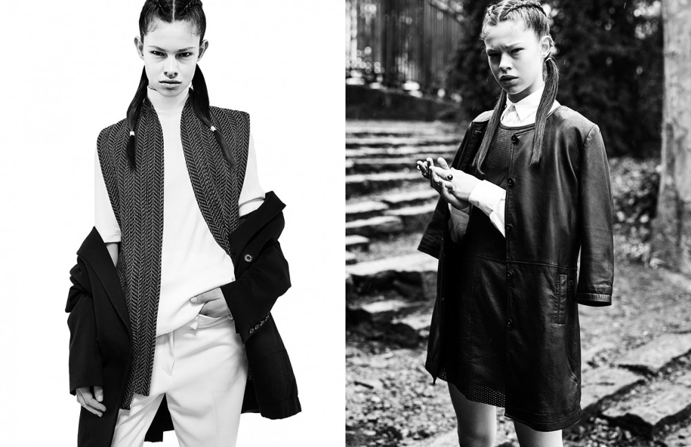 Turtleneck / Weekday Jacket / Stieglitz Coat / Susudio Pants / Avelon Opposite Shirt / Falke Dress and jacket / Goosecraft Rings / Jeh Jewels