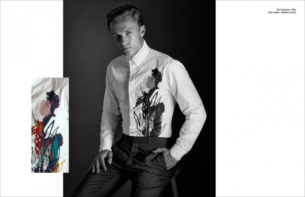 Shirt and pants / Dior Shirt (under) / Roberto Cavalli