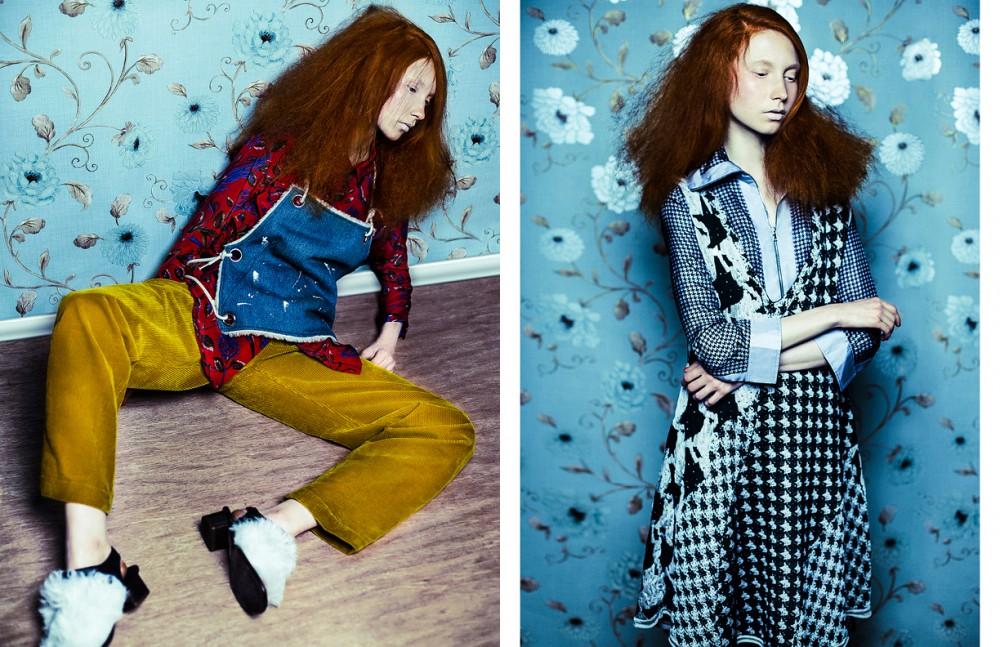 Shirt / Sandro Denim top / MM6 Maison Margiela Trousers / Joseph Shoes / Topshop Unique Opposite Total look / Acne Studios