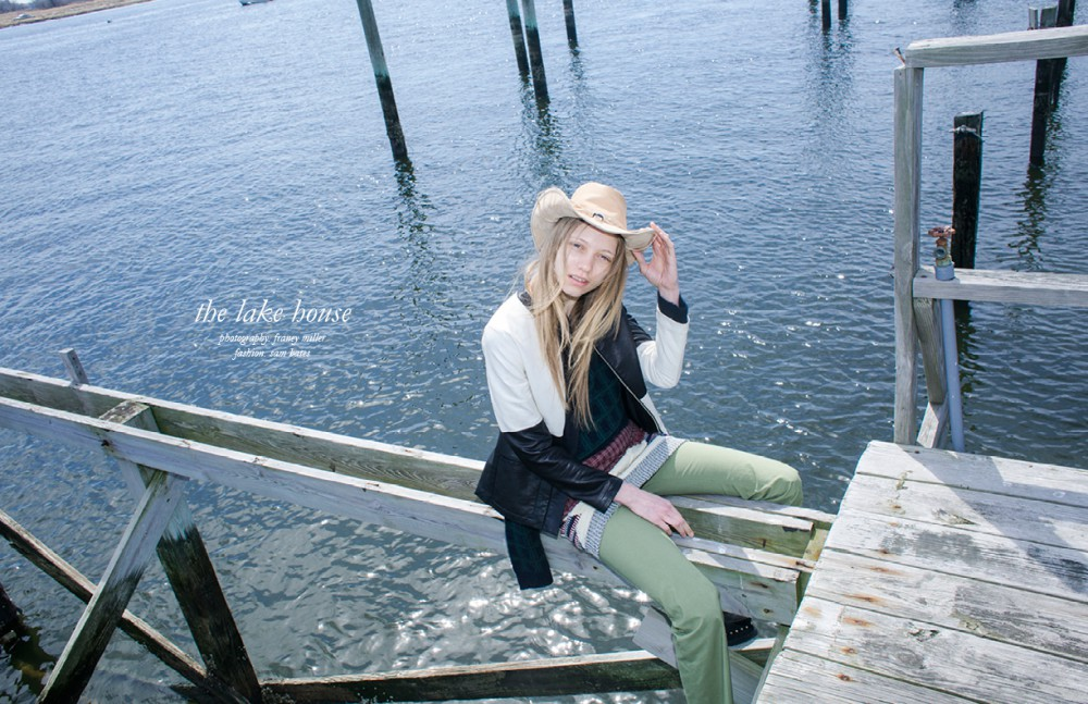 Jacket / Edun Sweater / Comptoirs des Cotonniers Tank top / Litke Skirt / Risto Trousers / Risto Shoes / KTZ Hat / Space Cowboy