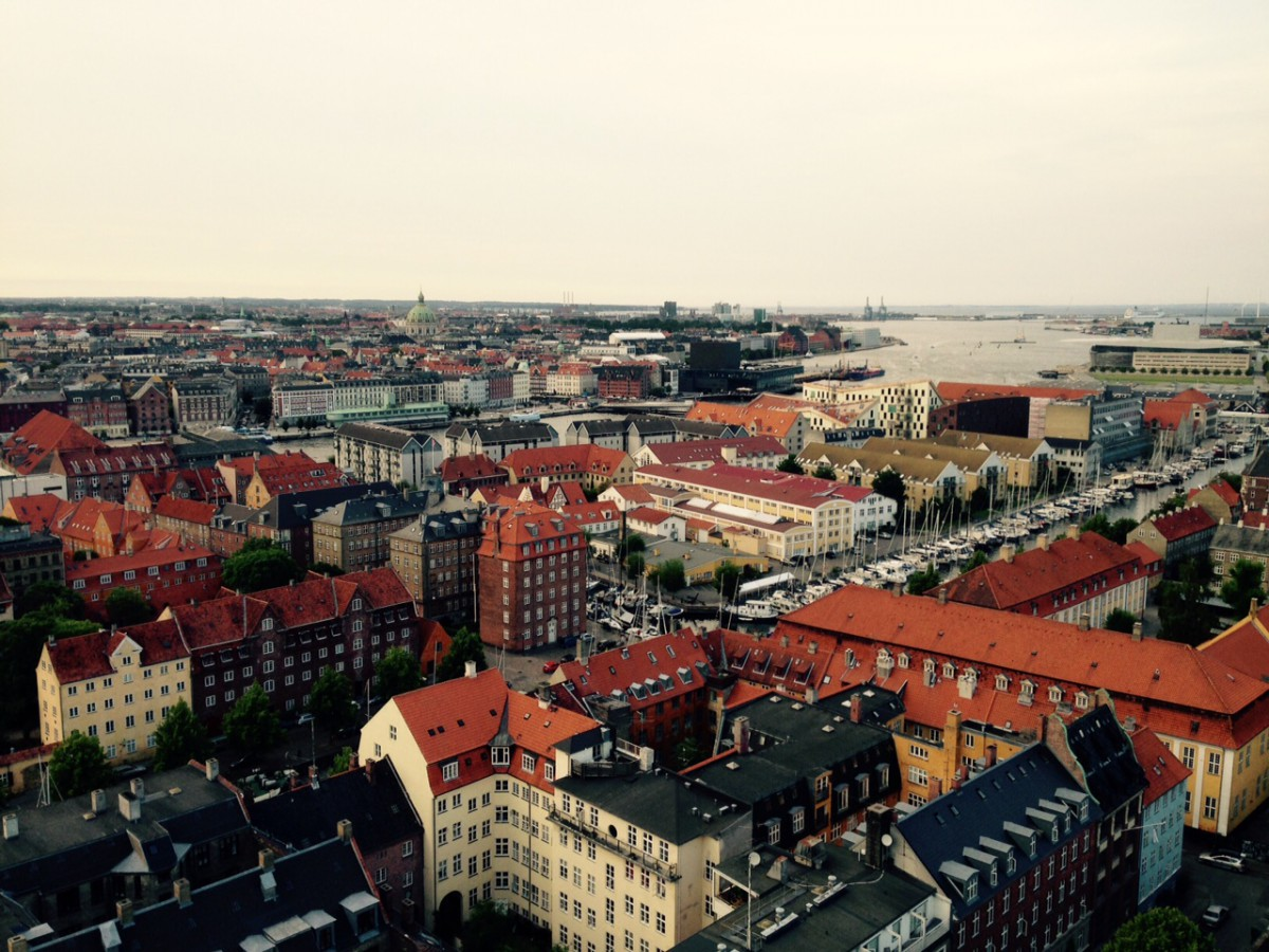 View of Copenhagen from Church of our Saviour