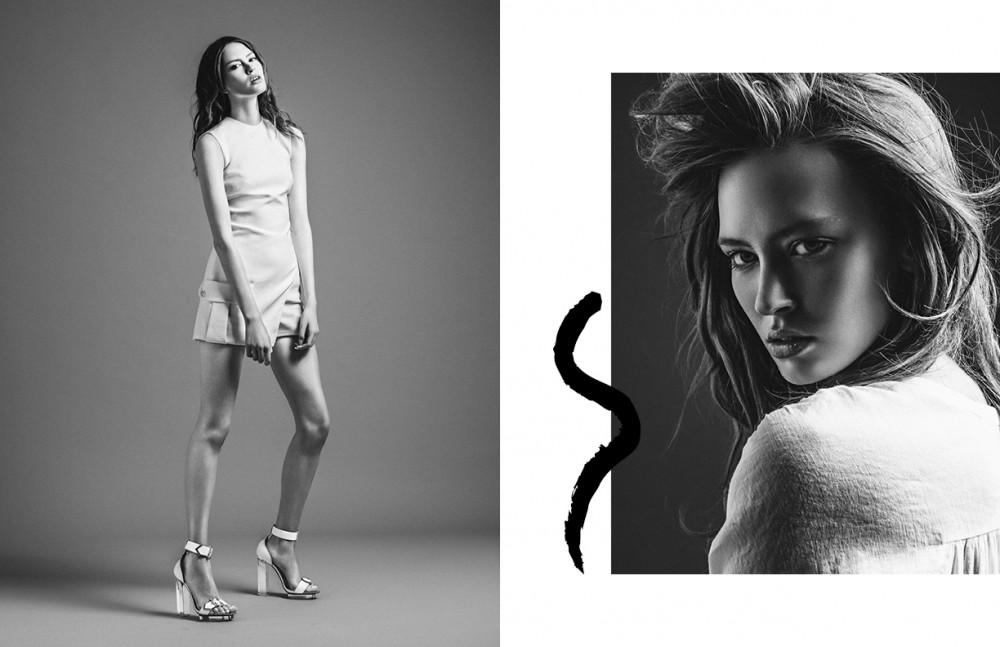 Dress & shoes / Versace Opposite Top / Trussardi