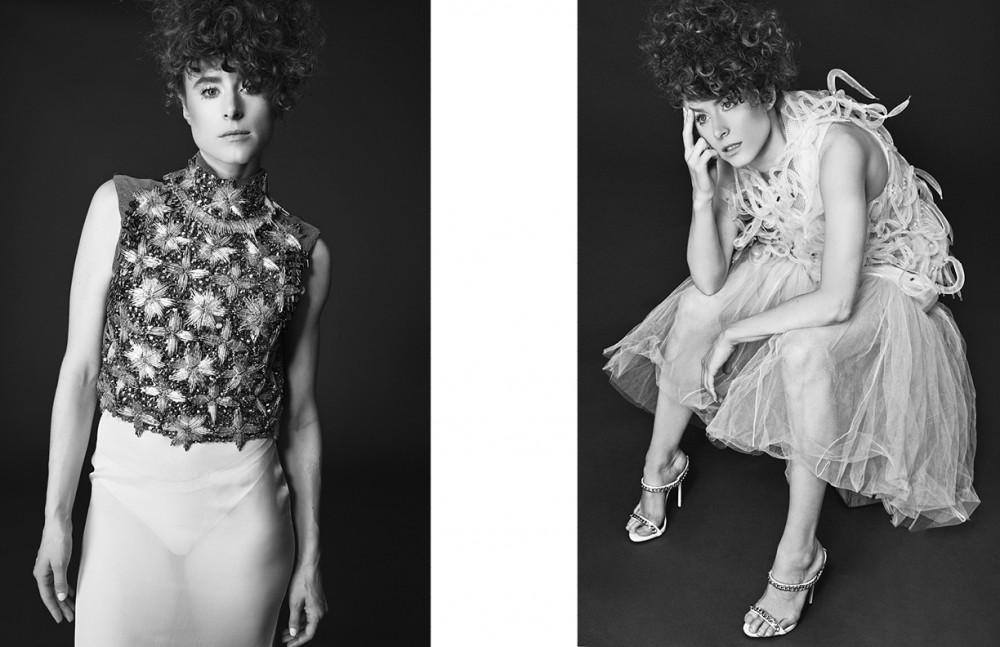 Top / Sorcha O Raghallaigh Skirt / Francesco Scognamiglio Opposite Dress / Robert Wun Shoes / Giuseppe Zanotti Design