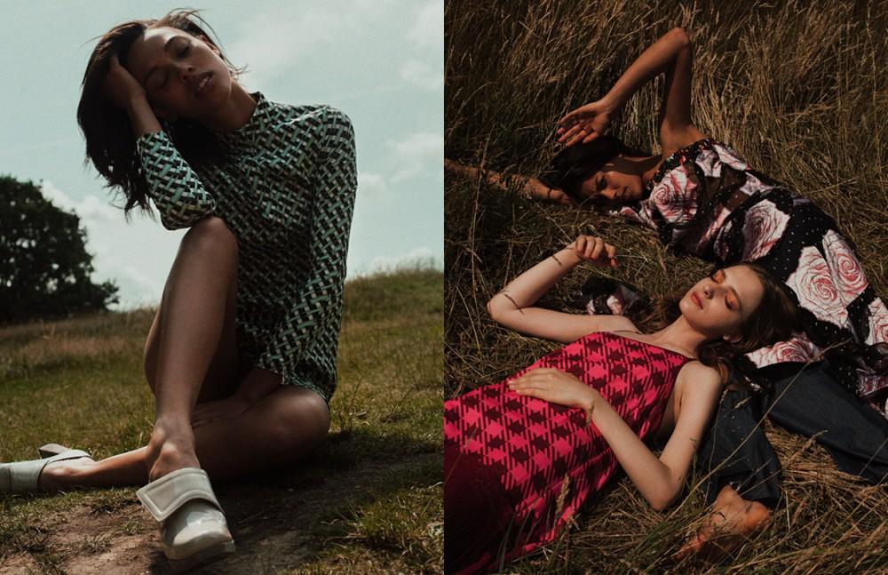 Dress / Antipodium Shoes / Amelie Pichard  Opposite Noah wears  Dress / Vivenne Westwood Trousers / Huishan Zhang  Sonya wears  Dress / House of Holland