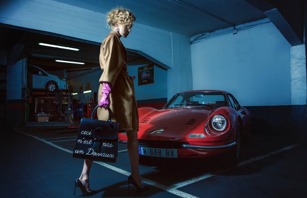 Coat / Bally  Shoes / Valentino  Bag / Devaux  Gloves / Agnelle  Earrings / MiuMiu