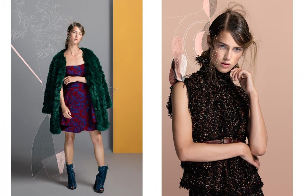 Coat / Samsoe & Samsoe Dress / Emporio Armani Boots / Ellie Saab Opposite Top& skirt / Pete Dullaert Belt / CHANEL