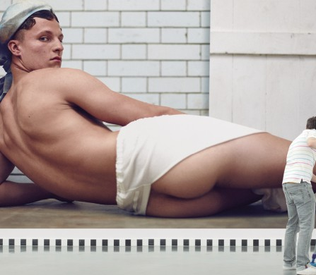 'La Grande Odalisque' / Jean-Auguste-Dominique Ingres David wears Overskirt / Julius Shirt worn as turban / Vivienne Westwood MAN