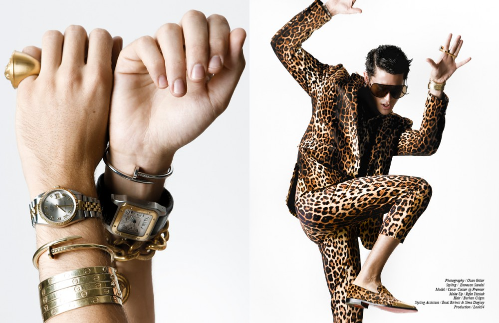 Ring / Versace Watches / Rolex & Cartier Bracelets / Versace & Cartier Opposite Suit / Moschino Shoes / Christian Louboutin Sunglasses / Rick Owens Earrings / Givenchy Bracelets / Cartier