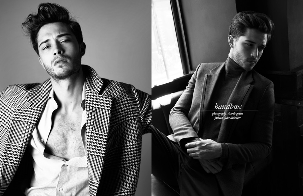 Coat / Petar Petrov Shirt / Ermenegildo Zegna Opposite Suit / Fendi Turtleneck / BOSS