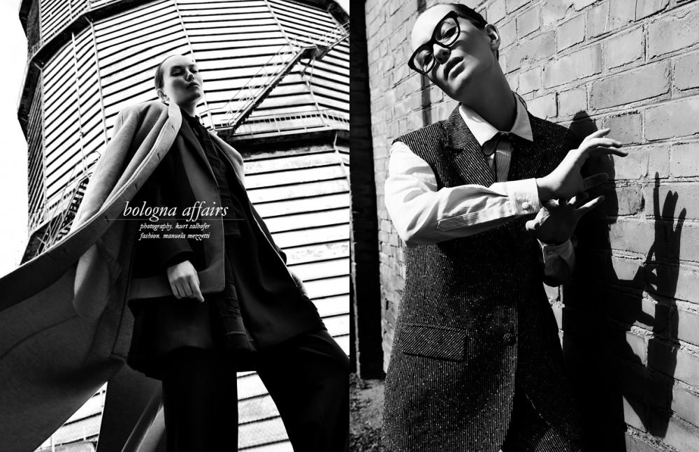Coat / L72 Suit / Miriaki Shirt / Marta Cucciniello Opposite Total look / Matteo Lamandini Sunglasses / Dior