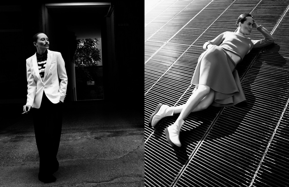 Jacket / Dondup Blouse / Cristiano Burani Shirt / Eliana riccio Trousers / Ny Industrie Bow tie / Septwolves Shoes / Baldinini Opposite Skirt & sweater / L72 Shoes / Cristiano Burani