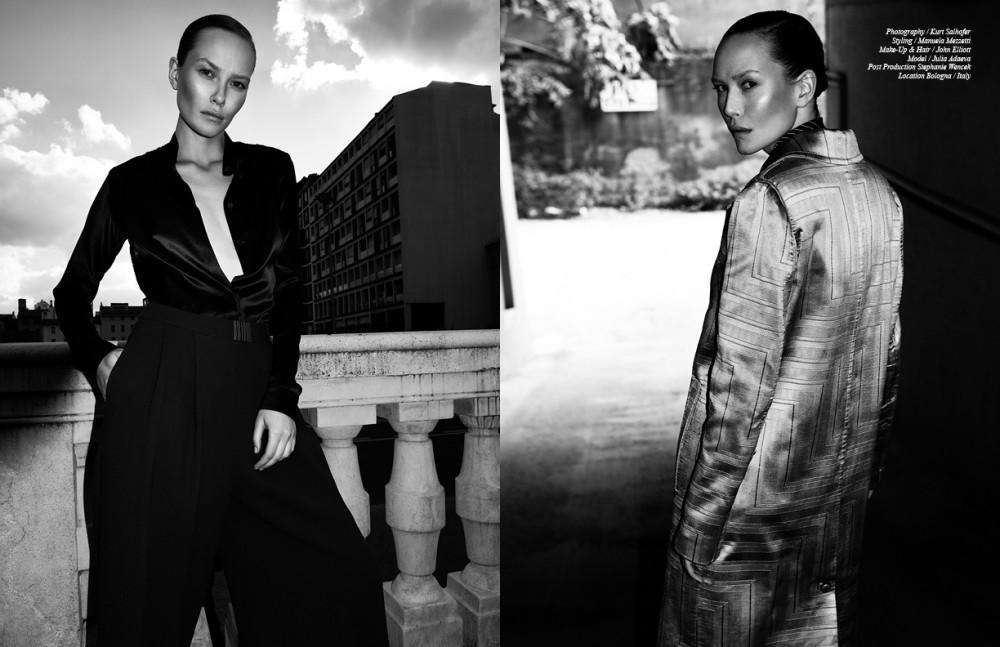 Total look / Marta Cucciniello Opposite Coat / Grinko