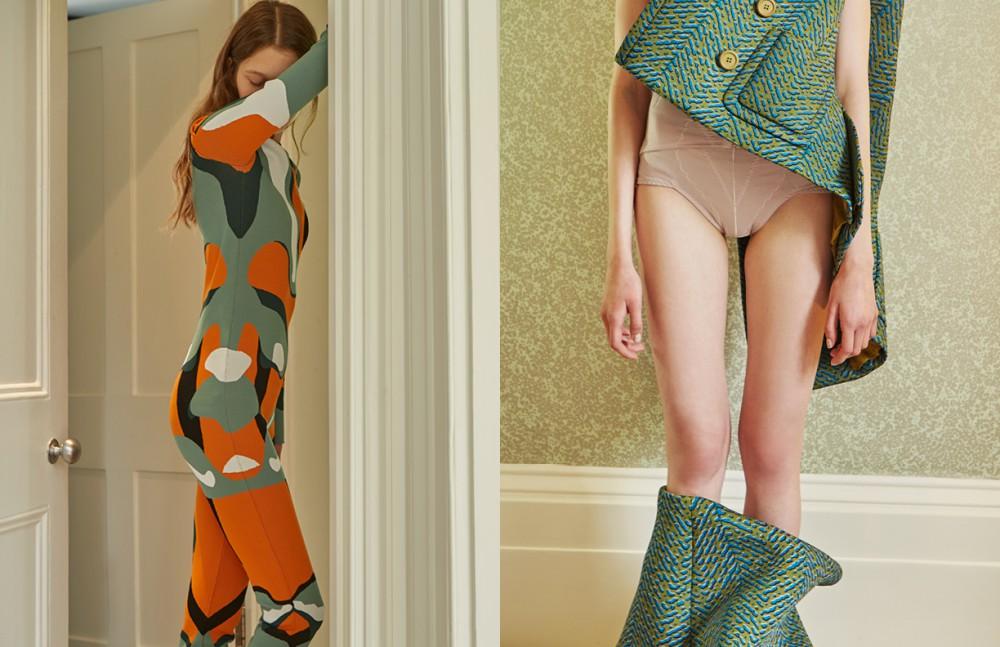 Bodysuit / Dior Opposite Gillet & Skirt / Prada Knickers / Stylist's Own