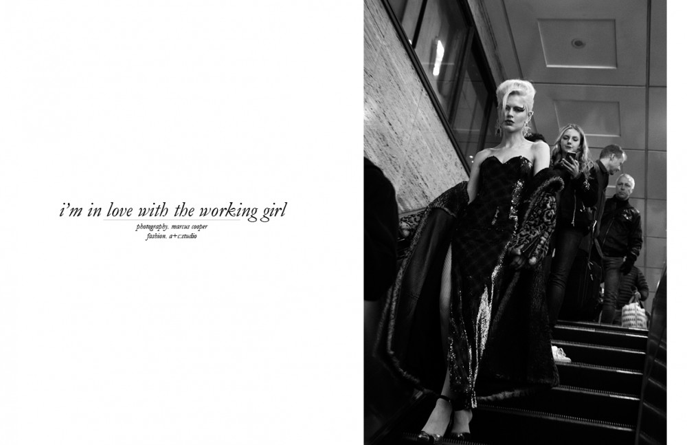 Coat / Tom Ford Dress / Emilio De La Morena Shoes / Terry De Havilland Earrings / Butler & Wilson
