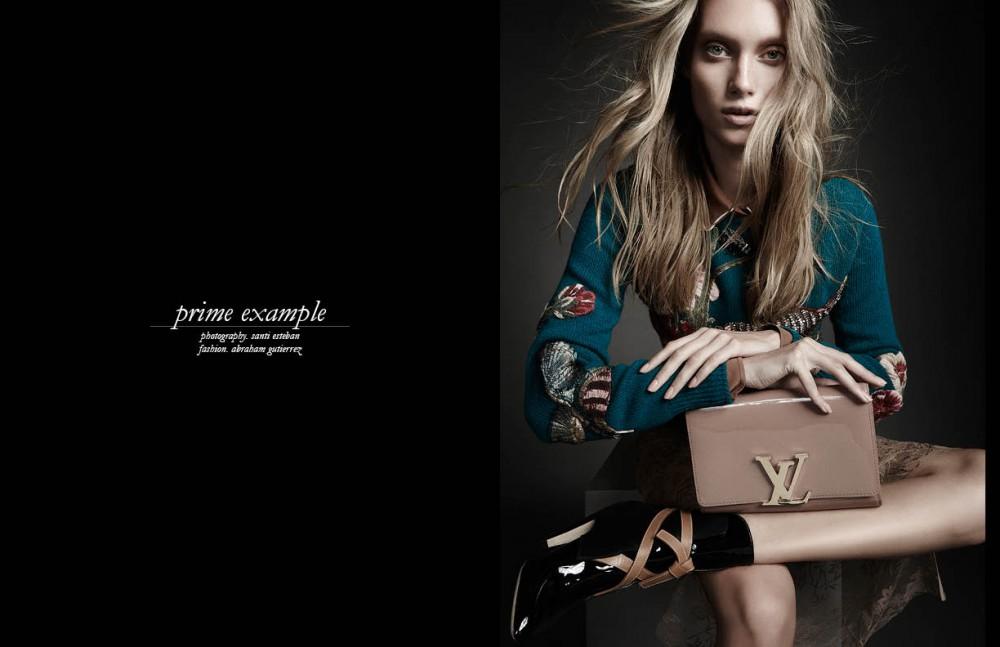 Shirt, jumper, culotte & skirt / Gucci Clutch, bracelet & ankle boots / Louis Vuitton