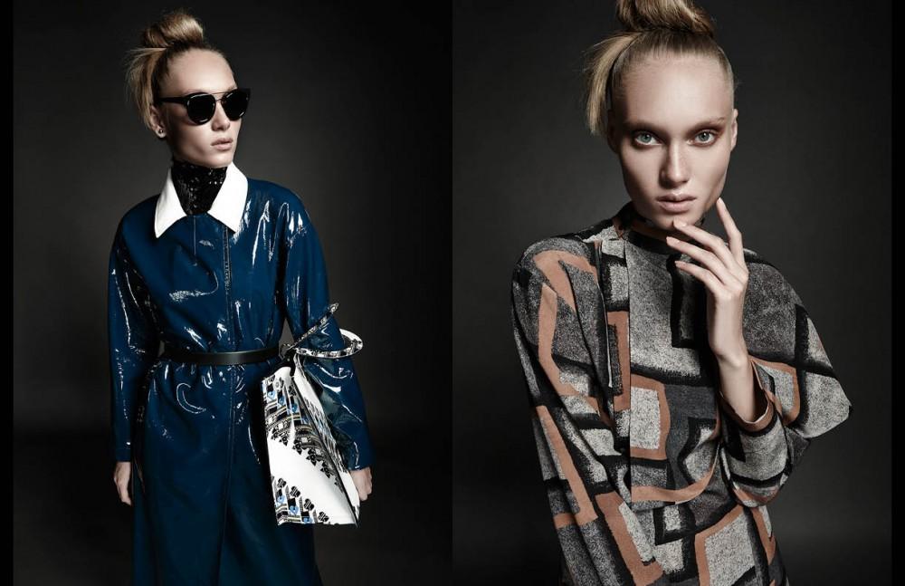 Top, gabardine, belt, sunglasses, earrings & bag / Christian Dior Opposite Dress / Loewe