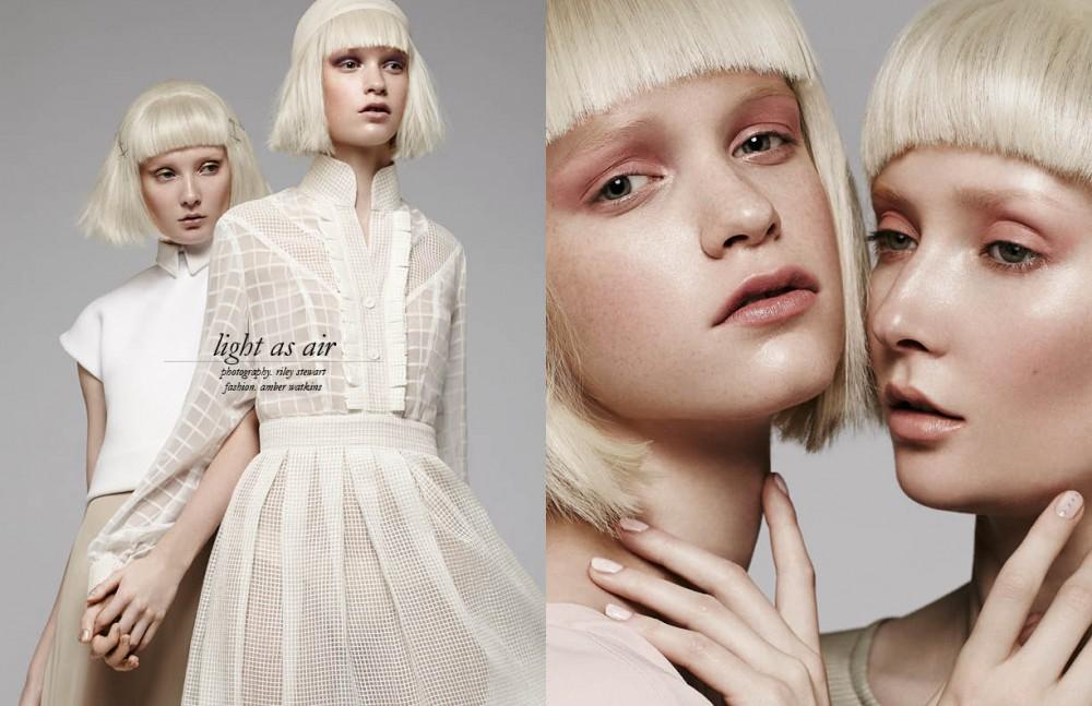 Left Top & skirt / Atelier Guarin Right Dress / Adam X Atelier Opposite Left Dress / Code Vitesse Right Dress / BAZZUL
