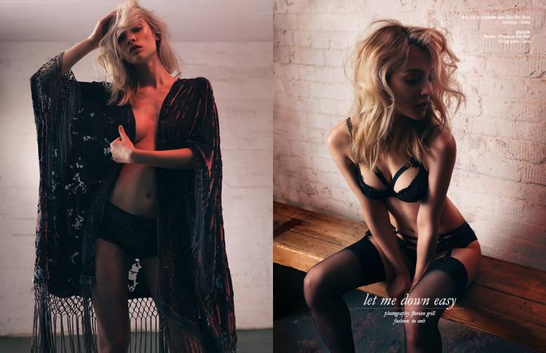 Panties / Princesse Tam Tam Fringe gown / Zara Opposite Bra, slip & suspender belt /Dita Von Tesse Stockings / Falke