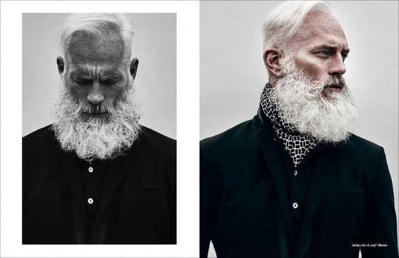 Jacket, shirt & scarf / Hermès