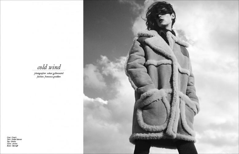 Coat / Coach Shirt / Isabel Marant Top / Oroblu Socks / Aristoc Boots / Belstaff