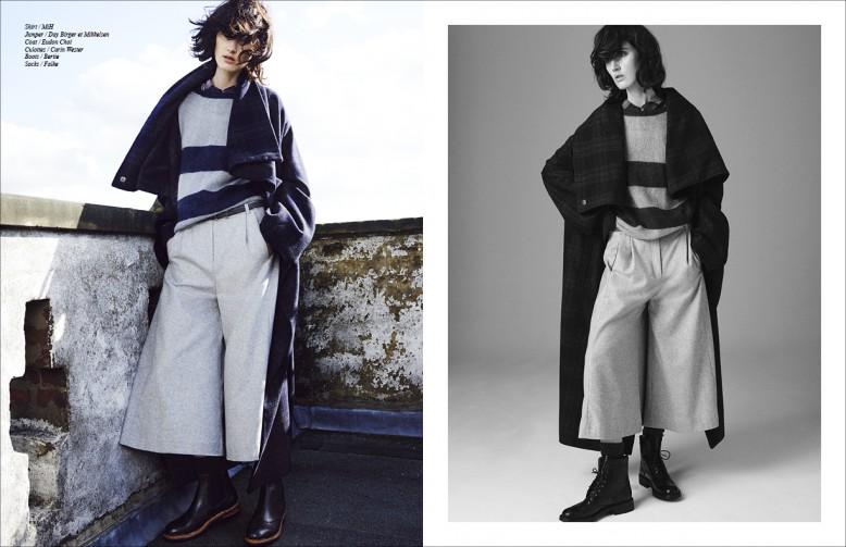 Shirt / MiH Jumper / Day Birger et Mikkelsen Coat / Eudon Choi Culottes / Carin Wester Boots / Bertie Socks / Falke