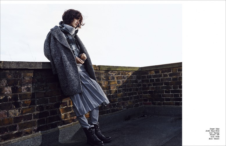 Jumper / Maje Jacket / Rag & Bone Coat / Topshop Trousers / Tibi Socks / Falke Boots / Tamaris