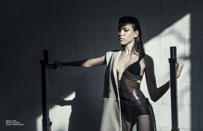 Bodysuit / DSTM Waistcoat / Lala Berlin Trousers / Franziska Michael