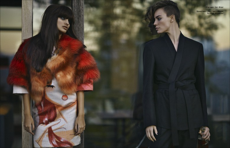 Elliot wears: Suit / Brioni Taynara wears: Dress / Marco Bologna Fur Wrap / Wunderkind
