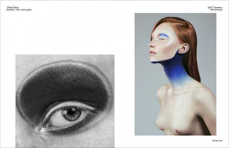 "Left Urban Decay   Eyeshadow ""urban"" electric palette MAC Cosmetics Blue chromacake"