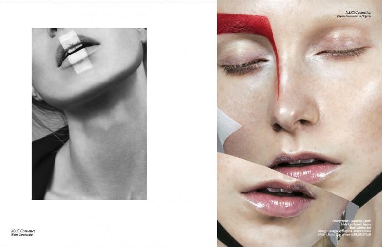 Left MAC Cosmetics  White Chromacake Right NARS Cosmetics  Cream Illuminator in Orgasm