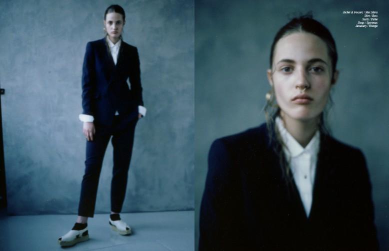 Jacket & trousers / Max Mara Shirt / Boss Socks / Falke Shoes / Sportmax Jewellery / Vintage