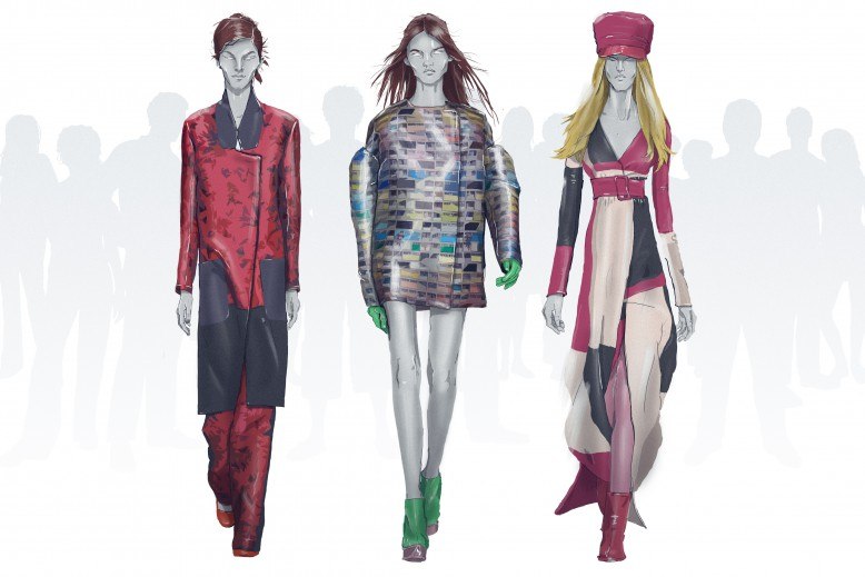 Left to Right Eudon Choi, Fyodor Golan and DAKS Illustration Edd Leigh