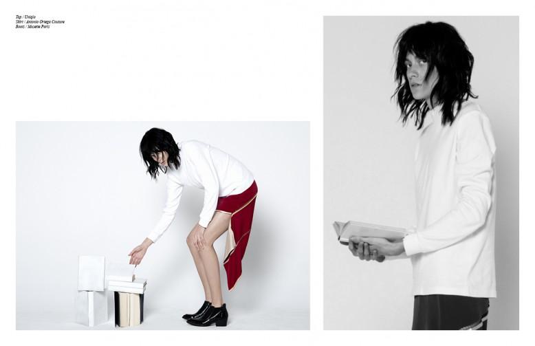 Top / Uniqlo Skirt / Antonio Ortega Couture Boots / Musette Paris