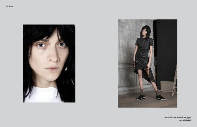 Top / Uniqlo Opposite Top, skirt and glove / Antonio Ortega Couture Socks / Falke Shoes / Musette Paris Top / Uniqlo