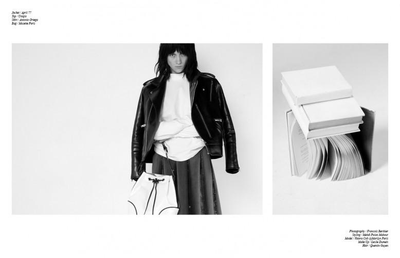 Jacket / April 77 Top / Uniqlo Skirt / Antonio Ortega Bag / Musette Paris