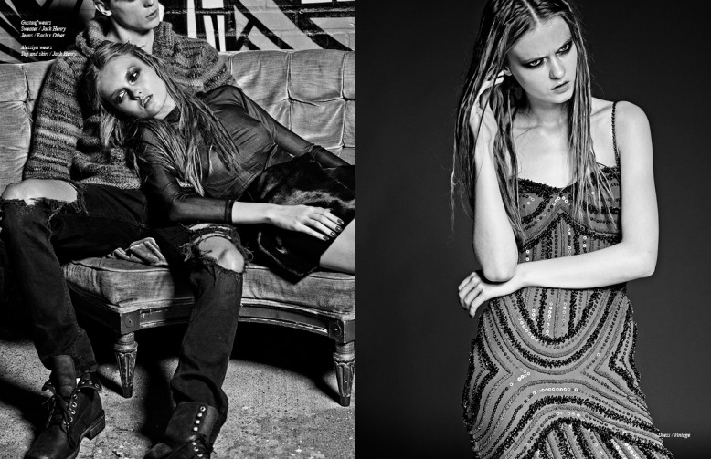 Gustaaf wears Sweater / Jack Henry Jeans / Each x Other Alessiya wears Top and skirt / Jack Henry Opposite  Dress / Vintage