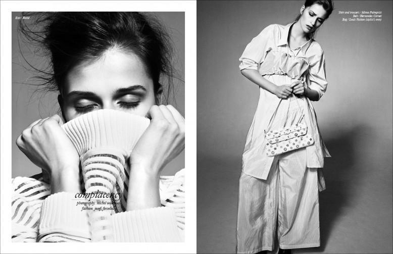 Knit / H&M Opposite Shirt and trousers / Minna Palmqvist Belt / Hernandez Cornet Knit / H&M Bag / Louis Vuitton (stylist's own)