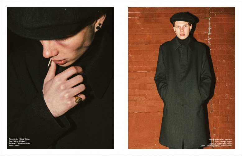 Cap and ring / Model Citizen Coat / Marni @Sydney's Turtleneck / Black and Brown Pants / Sandro