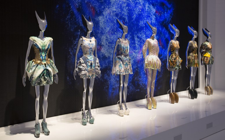 Installation view of  'Platos Atlantis' gallery  Artist: Alexander McQueen Savage Beauty at the V&A  Date: 2015  Credit line: Victoria and Albert Museum, London  Special terms: None
